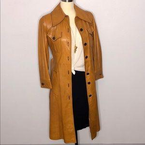 Suburban Heritage 70's Vintage Leather Trench Coat